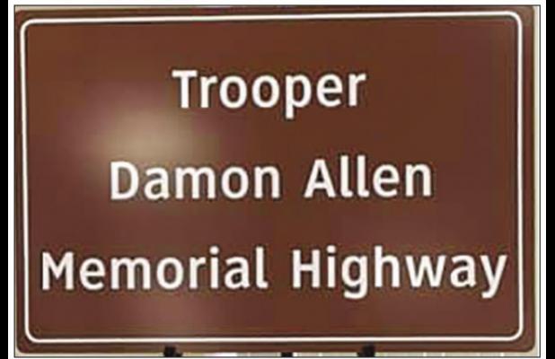 Fallen trooper honored via highway designation