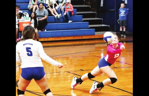 Lady Bulldogs roll past Marlin in 3 sets