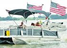 Trump boat parade attracts more than a hundred boats to Lake Limestone